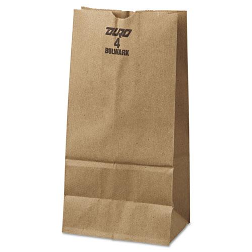 "Grocery Paper Bags, 50 lbs Capacity, #4, 5""w x 3.13""d x 9.75""h, Kraft, 500 Bags BAGGX4500"