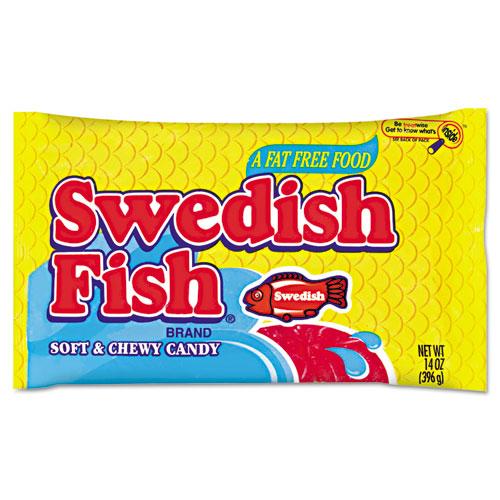 Swedish Fish® Candy, Original Flavor, Red, 14 oz Dispenser Box