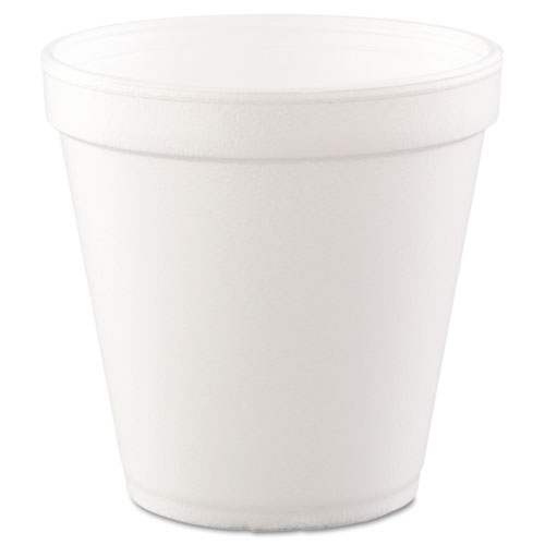 Foam Containers, 16 oz, White, 25/Bag, 20 Bags/Carton