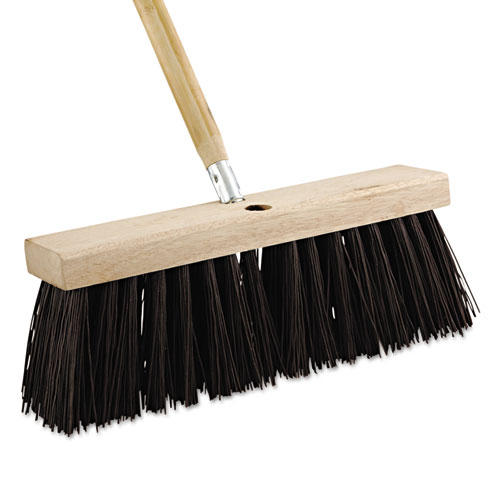 Street Broom Head, 16 Wide, Polypropylene Bristles