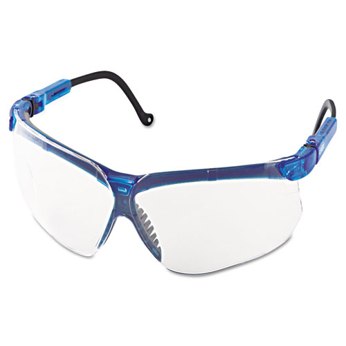 Genesis Shooting Glasses, Vapor Blue Frame, Clear Lens, 10/Carton