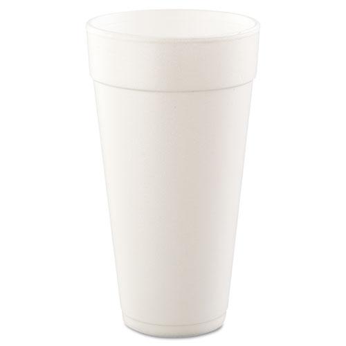 Drink Foam Cups, Hot/Cold, 24oz, White, 500/Carton 24J24
