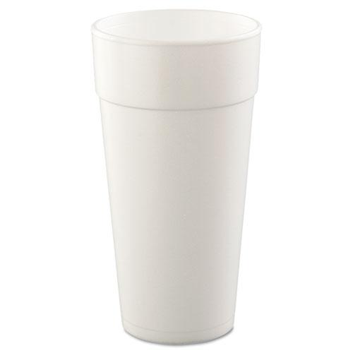 Dart® Foam Drink Cups, Hot/Cold, 24oz, White, 25/Bag, 20 Bags/Carton