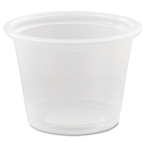 Conex Complements Ploypropylene Portion/Medicine Cups, 1 oz, Clear, 125/Bag, 20 Bags/Carton