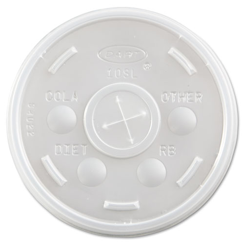 Plastic Cold Cup Lids, Fits 10oz Cups, Translucent, 1000/Carton 10SL