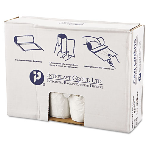 High-Density Commercial Can Liners Value Pack, 45 gal, 11 microns, 40 x 46, Clear, 250/Carton