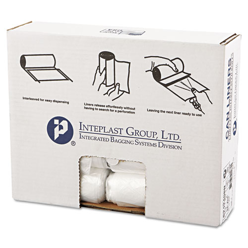 "Inteplast Group High-Density Commercial Can Liners, 10 gal, 8 microns, 24"" x 24"", Natural, 1,000/Carton"