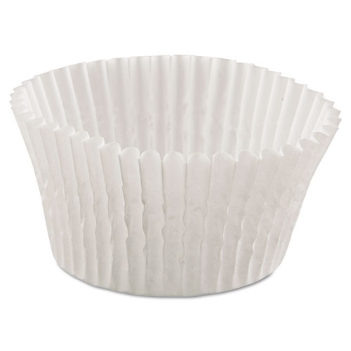 Fluted Bake Cups, 4 1/2 dia x 1 1/4h, White, 500/Pack, 20 Pack/Carton 610032