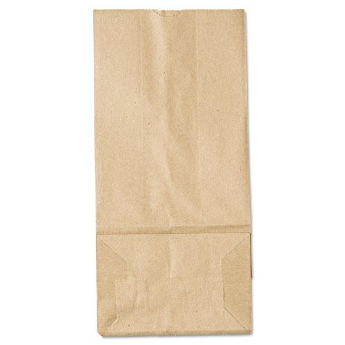 "Grocery Paper Bags, 35 lbs Capacity, #5, 5.25""w x 3.44""d x 10.94""h, Kraft, 500 Bags"