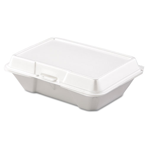 Carryout Food Container, Foam, 1-Comp, 9 3/10 x 6 2/5 x 2 9/10, 200/Carton | by Plexsupply