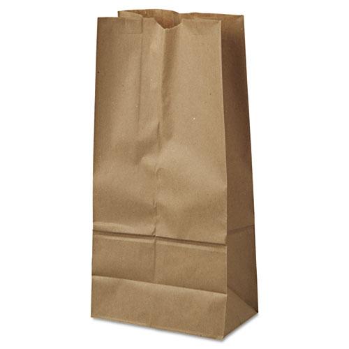 "Grocery Paper Bags, 40 lbs Capacity, #16, 7.75""w x 4.81""d x 16""h, Kraft, 500 Bags BAGGK16500"