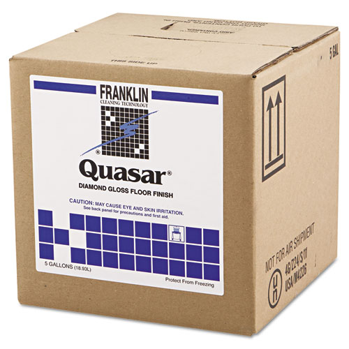 Quasar High Solids Floor Finish, 5gal Box