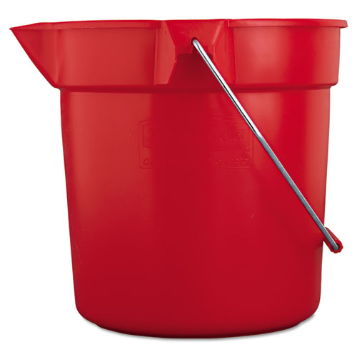 BRUTE Round Utility Pail, 10qt, Red | by Plexsupply