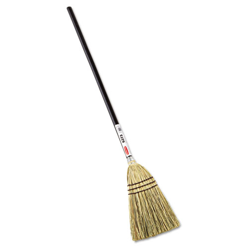 "Lobby Corn-Fill Broom, 38"" Handle, Brown 