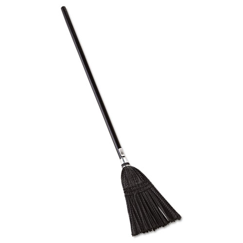 "Lobby Pro Synthetic-Fill Broom, 37 1/2"" Height, Black 