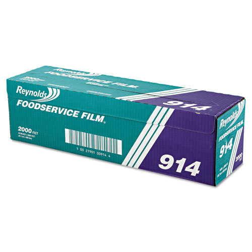 """Reynolds Wrap® PVC Film Roll with Cutter Box, 18"""" x 2000 ft, Clear"""