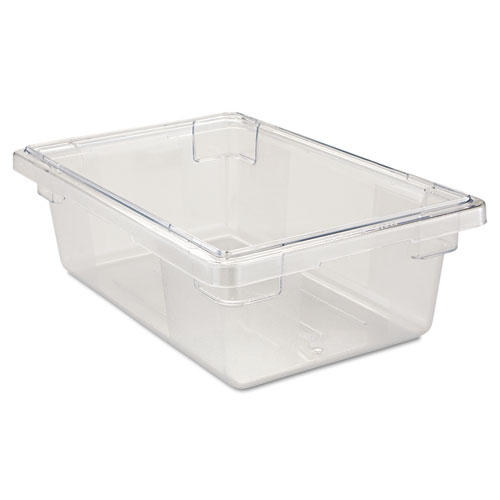 Food/Tote Boxes, 3.5 gal, 18 x 12 x 6, Clear
