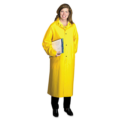Raincoat, PVC/Polyester, Yellow, X-Large