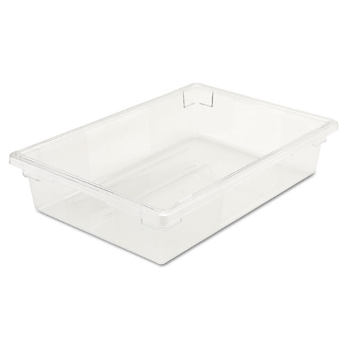 Food/Tote Boxes, 8 1/2gal, 26w x 18d x 6h, Clear | by Plexsupply