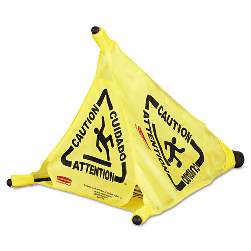 Rcp9s00yel Rubbermaid Commercial Multilingual Quot Caution