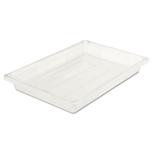 Food/Tote Boxes, 5 gal, 26 x 18 x 3.5, Clear
