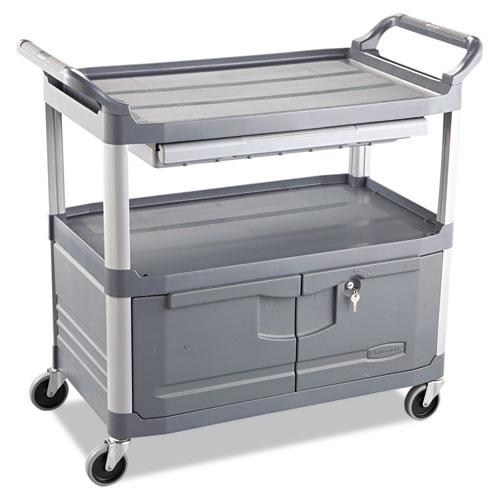 Xtra Instrument Cart, 300-lb Capacity, Three-Shelf, 20w x 40.63d x 37.8h, Gray