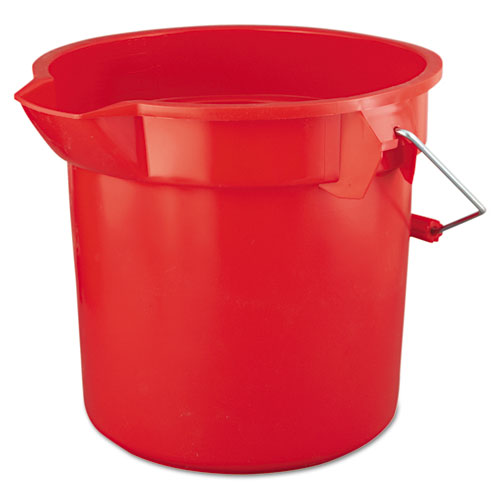 BRUTE Round Utility Pail, 14qt, Red | by Plexsupply