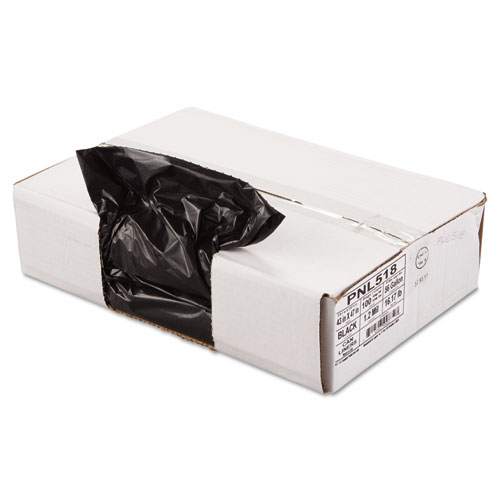 "Penny Lane Linear Low Density Can Liners, 56 gal, 1.2 mil, 43"" x 47"", Black, 100/Carton"