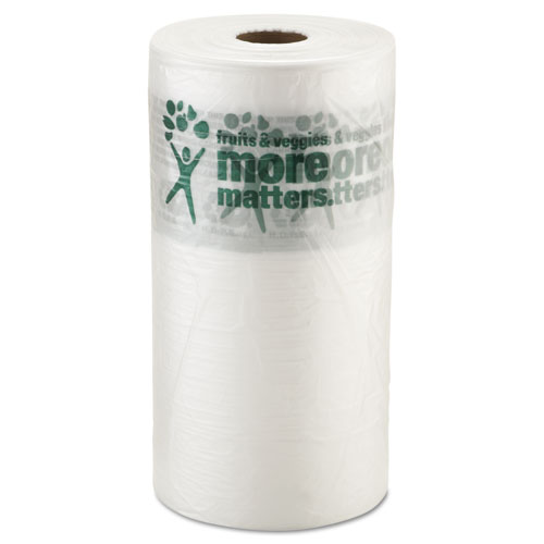 """Produce Bags, 9 microns, 10"""" x 15"""", Clear, 1400/Roll, 4 Rolls/Carton"""