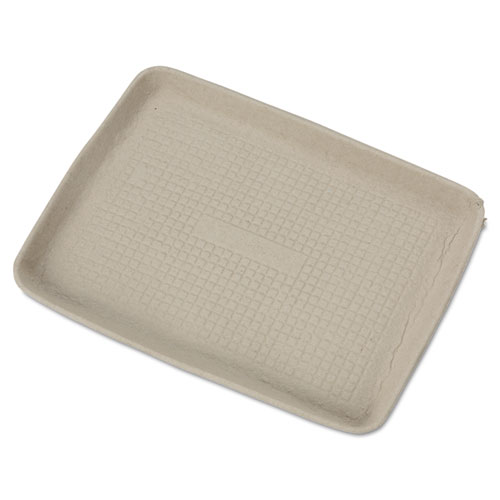 StrongHolder Molded Fiber Food Trays, 9 x 12 x 1, Beige, Rectangular, 250/Carton | by Plexsupply