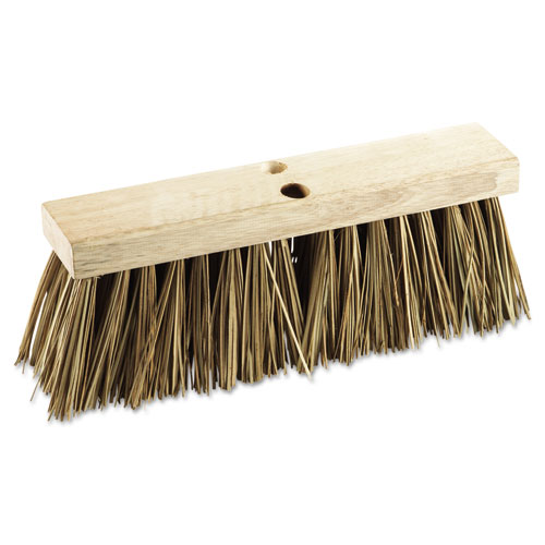 "Street Broom Head, 16"" Wide, Palmyra Bristles 