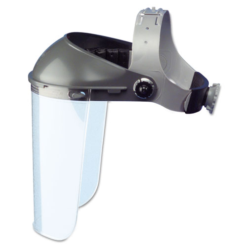 """High Performance Face Shield Assembly, 3"""" Crown Ratchet, Noryl, Gray"""