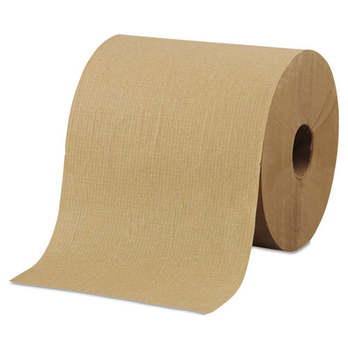 "Morcon Paper Hardwound Roll Towels, 8"" x 800ft, Brown, 6 Rolls/Carton"