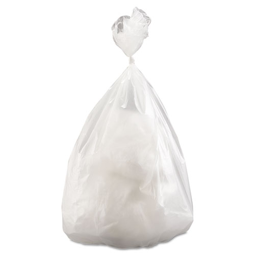 """Inteplast Group High-Density Commercial Can Liners Value Pack, 60 gal, 14 microns, 38"""" x 58"""", Clear, 200/Carton"""