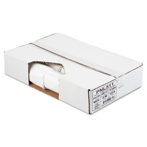 "Penny Lane Linear Low Density Can Liners, 30 gal, 0.62 mil, 30"" x 36"", White, 200/Carton"