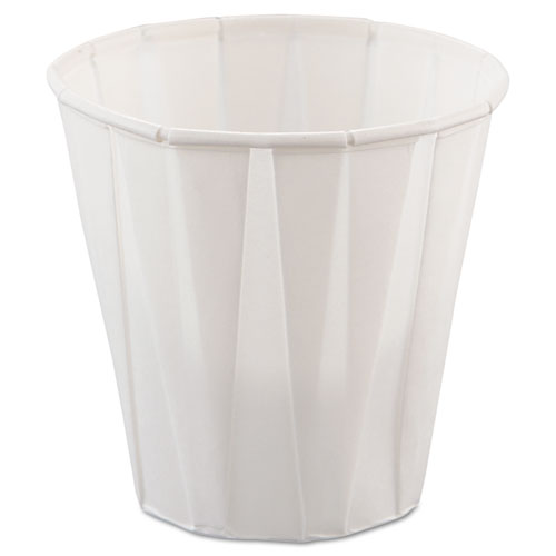 Paper Medical  Dental Treated Cups, 3.5oz, White, 100/Bag, 50 Bags/Carton