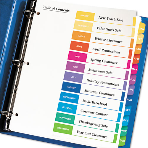 Avery 11127 Ready Index Customizable Table Of Contents