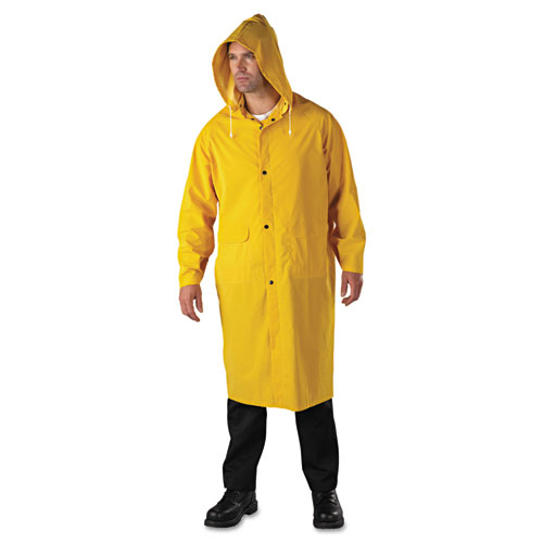 Raincoat, PVC/Polyester, Yellow, 2X-Large
