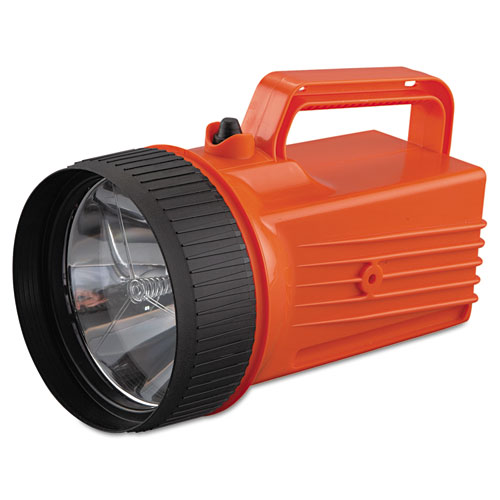 WorkSAFE Waterproof Lantern, 6 V Battery (Not Included), Orange/Black | by Plexsupply