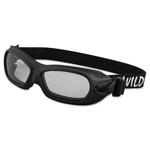 Jackson Safety* V80 WildCat Safety Goggles, Black Frame, Clear Lens