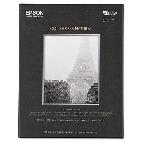 Cold Press Fine Art Paper, 19 mil, 8.5 x 11, Textured Matte Natural, 25/Pack