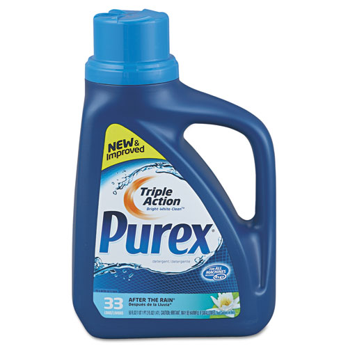 Purex® Liquid HE Detergent, After the Rain Scent, 50oz Bottle, 6/Carton