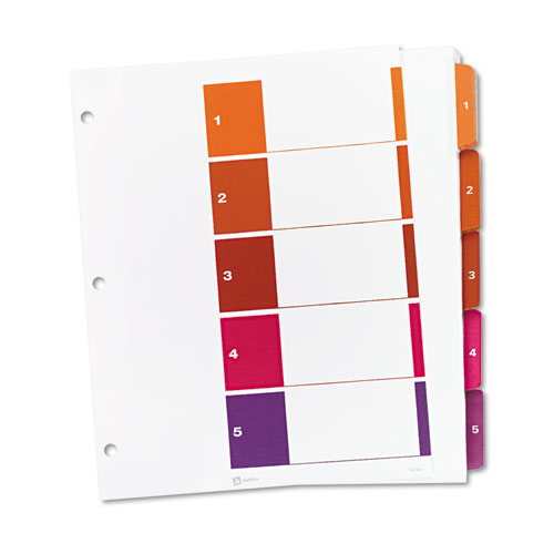 Customizable Toc Ready Index Multicolor Dividers 5 Tab