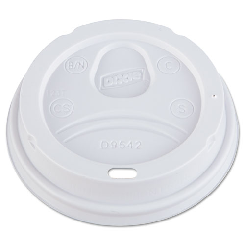 Dome Drink-Thru Lids, Fits 10, 12, 16oz Paper Hot Cups, White, 1000/Carton | by Plexsupply