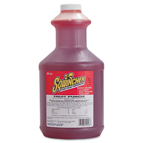 Sqwincher® Liquid-Concentrate Activity Drink, Grape, 64oz Bottle, 6/Carton