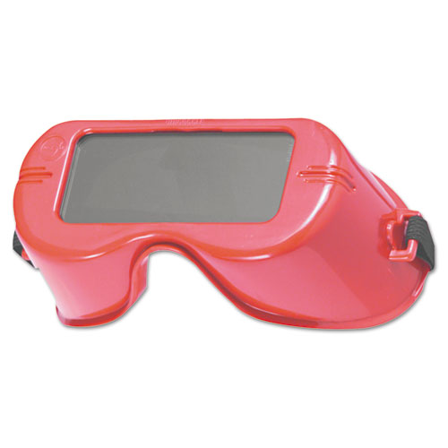 Jackson Safety* WR-60 Cutting Goggles, Red Frame, Shade 5.0 Lens