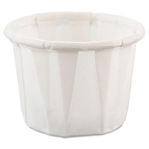 Dart® Paper Portion Cups, 0.5 oz, White, 250/Bag, 20 Bags/Carton