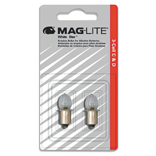 Maglite® Replacement Lamp for AA Mini Flashlight, 2/Pack