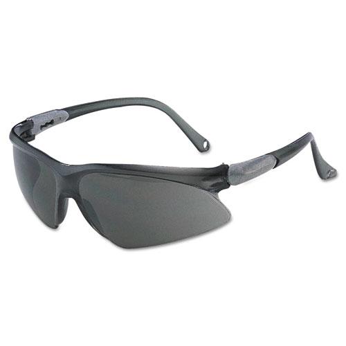 Jackson Safety* V20 Visio Safety Glasses, Black Frame, Black Indoor/Outdoor Lens