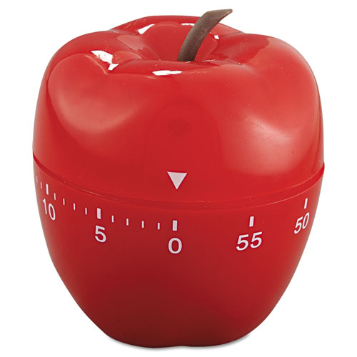 "Baumgartens® Shaped Timer, 4"" dia., Red Apple"